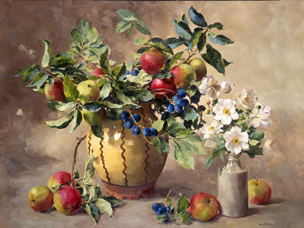 Fruits of Autumn - flower card by Anne Cotterill