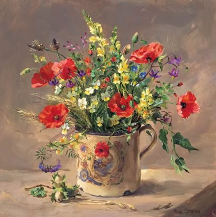 The Royal Mug - Birthday Card by Anne Cotterill Flower Art