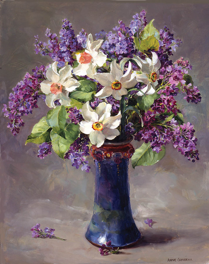 Narcissi with Lilac. Limited Edition Print LE-67