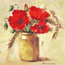 Cornfield Poppies greetings card by Anne Cotterill Flower Art