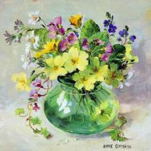 Spring Posy greetings card by Anne Cotterill Flower Art