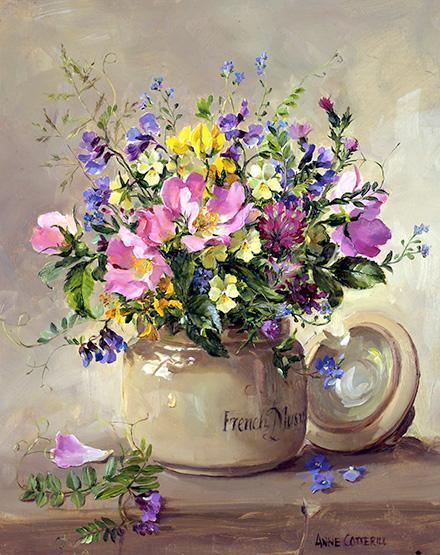 Anne Cotterill Birthday Card - Summer Wild Flowers