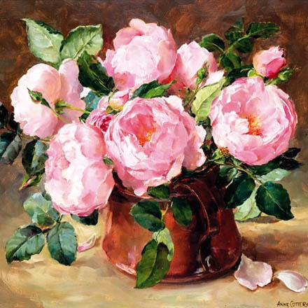 English Roses birthday card by Anne Cotterill
