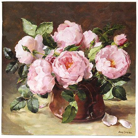 Notebook with English Roses on cover - print taken from the original oil painting by Anne Cotterill
