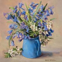 Bluebells - Birthday Card by Anne Cotterill Flower Art