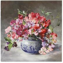 Notebook - Sweet Peas by Anne Cotterill Flower Art