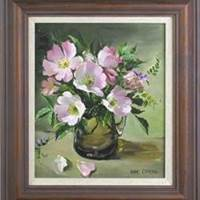 Wild Roses painting by ~Anne Cotterill - stolen from gallery