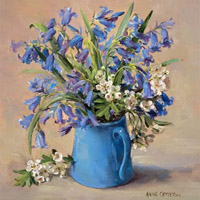Bluebell greetings card by Anne Cotterill