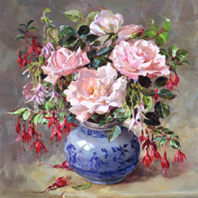 Lithographic and Canvas Flower Prints taken from the original oil paintings of Anne Cotterill